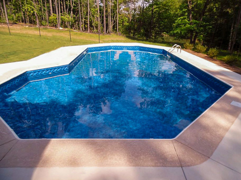 Law Pools & Patio grecian lazy l pool