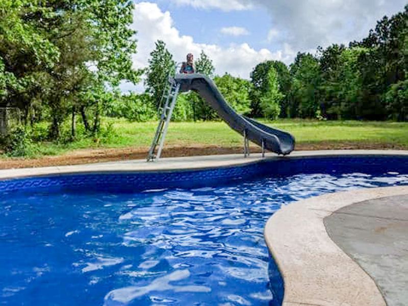 Law Pools & Patio walkin pool with slide