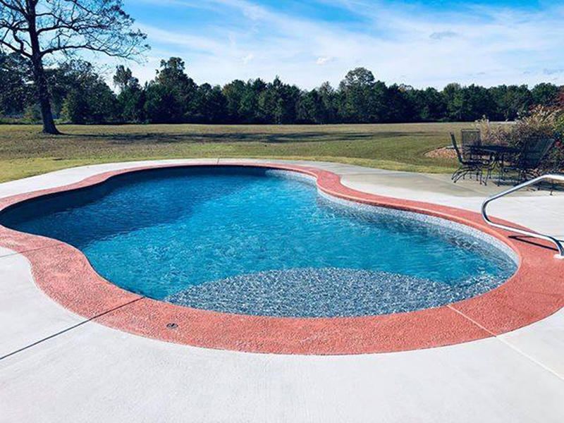 Law Pools & Patio mountain pond tecotta poolrra