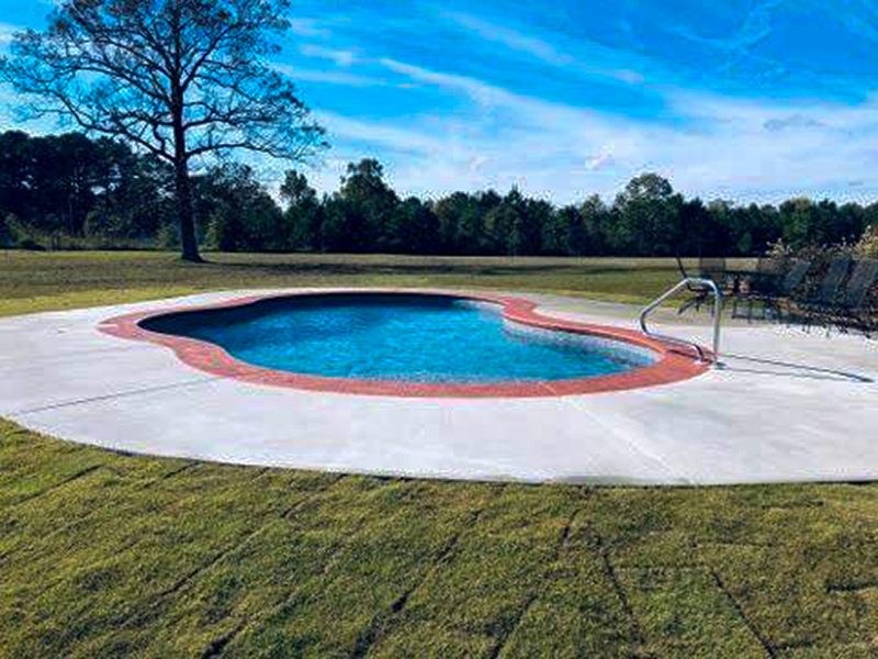 Law Pools & Patio mountain pond pool
