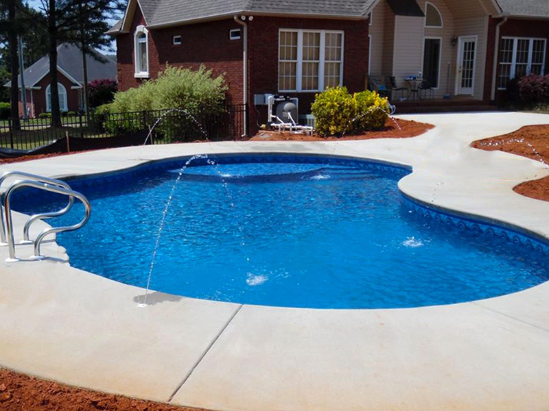 Law Pools & Patio pool with jet features