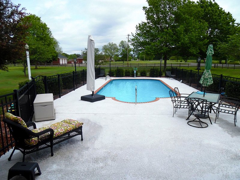 Law Pools & Patio custom backyard pool