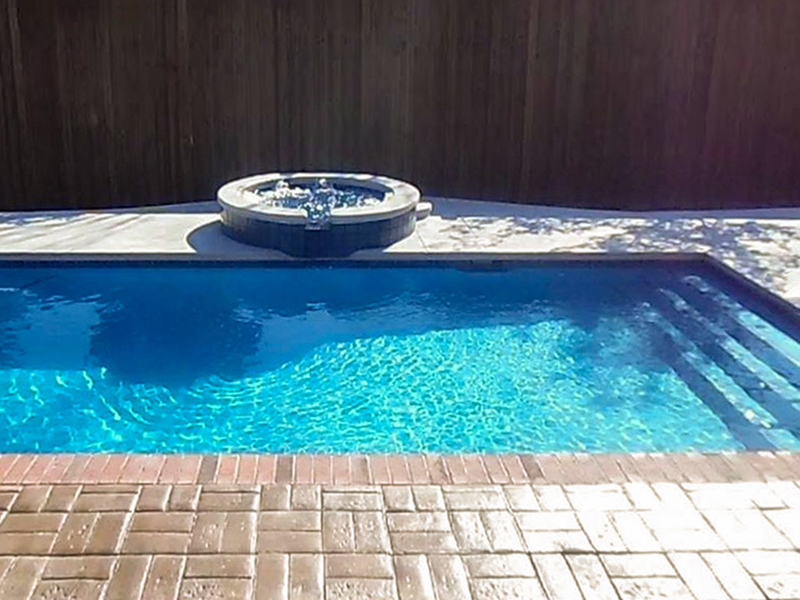 Law Pools & Patio narrow gunite pool