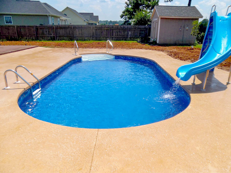 Law Pools & Patio pool with slide