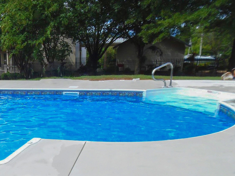 Law Pools & Patio pool with walk in